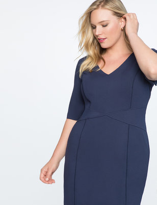 9-to-5 Short Sleeve Stretch Work Dress