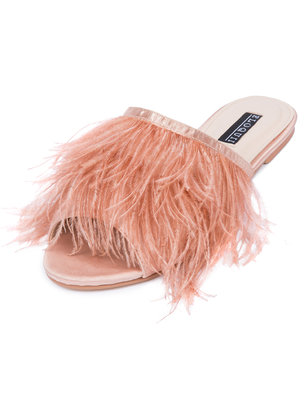 Kyle Marabou Feather Slide Sandal