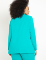 Long Blazer with Pocket Detail Tropical Green