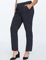 Dotted Slim Trouser Navy With White Polka Dots