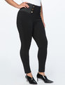 Miracle Flawless Button Detail Legging Totally Black