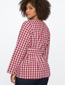 Gingham Top Light Blue and Red