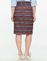 Neoprene Pencil Skirt Line Up Stripe