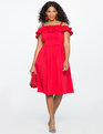 Ruffle Detail Fit and Flare Dress LOLLIPOP