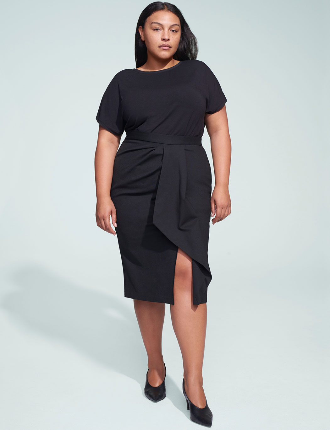 Jason Wu/ELOQUII Asymmetric Draped Pencil Skirt