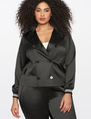 Double Breasted Rib Detail Jacket
