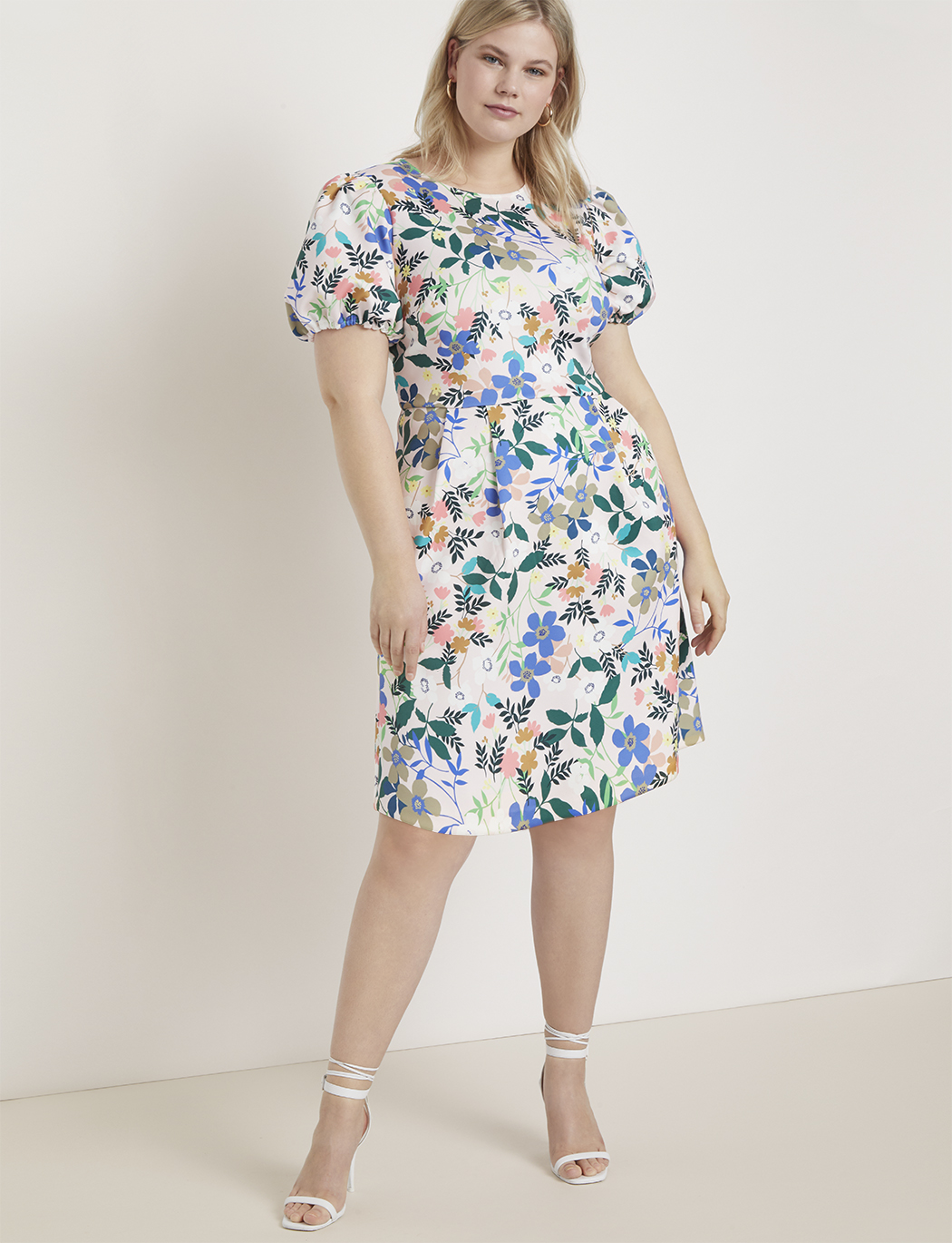 A-Line Puff Sleeve Dress