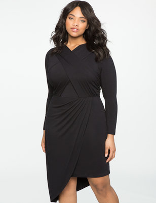 Twist Front Asymmetrical Dress