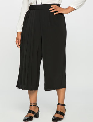 Studio Cropped Pleated Pant