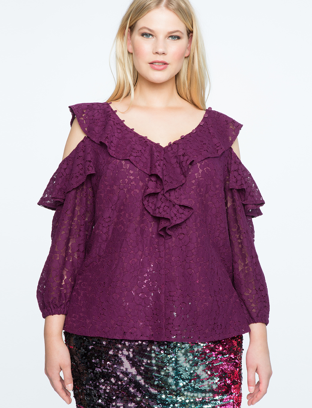 a23fd088ae9f0 Lace Cold Shoulder Top