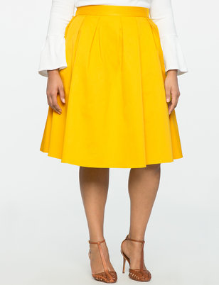 Pleated Midi Skirt with Pockets