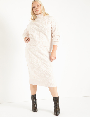 Cable Sweater Skirt