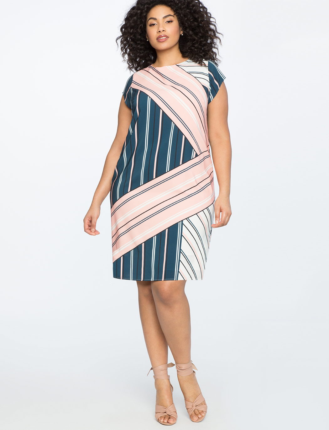 Printed Tee Dress with Tie Back Detail