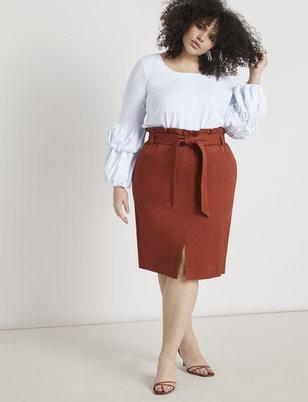 Paperbag Waist Pencil Skirt