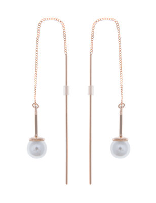 Pull Through Pearl Earrings