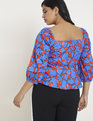 Puff Sleeve Top with Peplum Go Bright