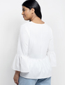 Relaxed Bell Sleeve Top Soft White