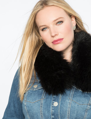 Faux Fur Collar with Hook Closure