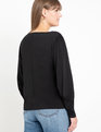 Dramatic Sleeve Knit Top Black
