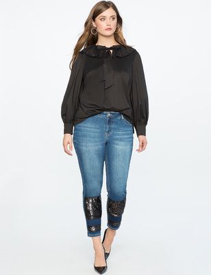 Sequin Patched Jean