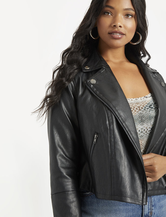 how to wear leather jacket womens