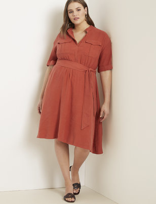 Fit and Flare Utility Dress