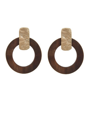 Wood Drop Earrings