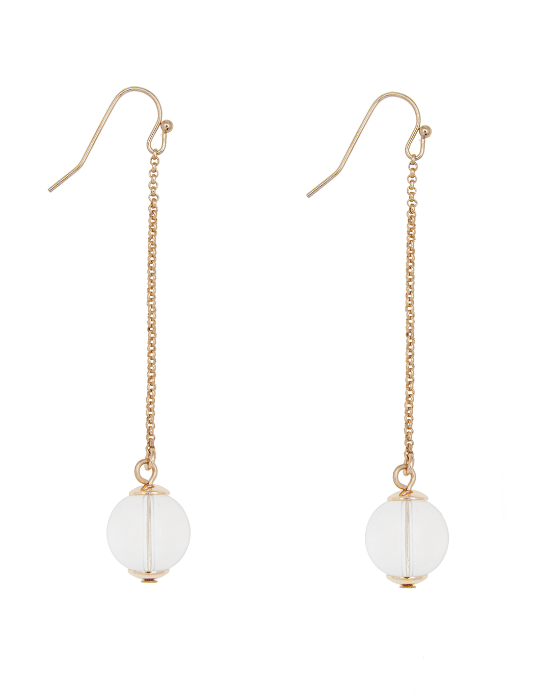 Clear Ball Drop Earrings