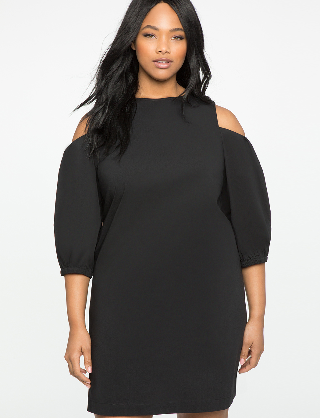 Shoulder Puff Sleeve Dress