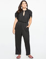 Wrapped Sleeve Jumpsuit TOTALLY BLACK