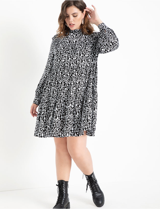 Tiered Easy Dress Ruffle Yoke