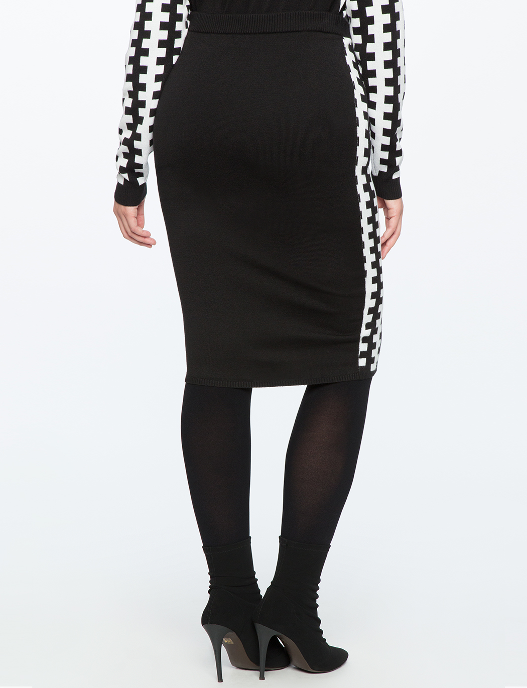 Intarsia Pencil Skirt