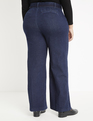 Gena Fit Belted High Rise Wide Leg Denim Pant Dark Wash