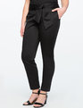 Tie Waist Cigarette Pant Totally Black