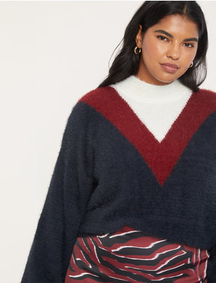Turtleneck Colorblocked Sweater