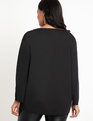 Adjustable Waistband Top Totally Black