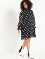 Tie Sleeve Easy Dress Classic Dot