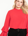 Dramatic Sleeve Top Jester Red