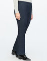 Straight Leg Pintuck Trouser Jean Dark Wash