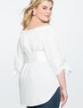 Off the Shoulder Corset Tunic Top WHITE