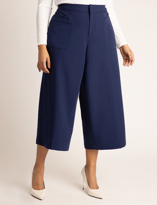 Crop Pant with Patch Pockets