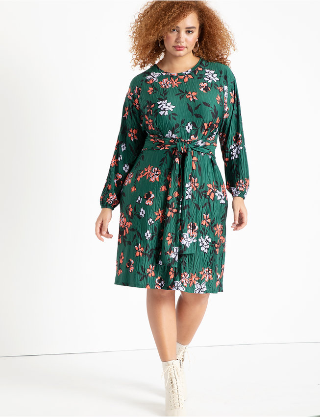 Tie Front Easy Dress