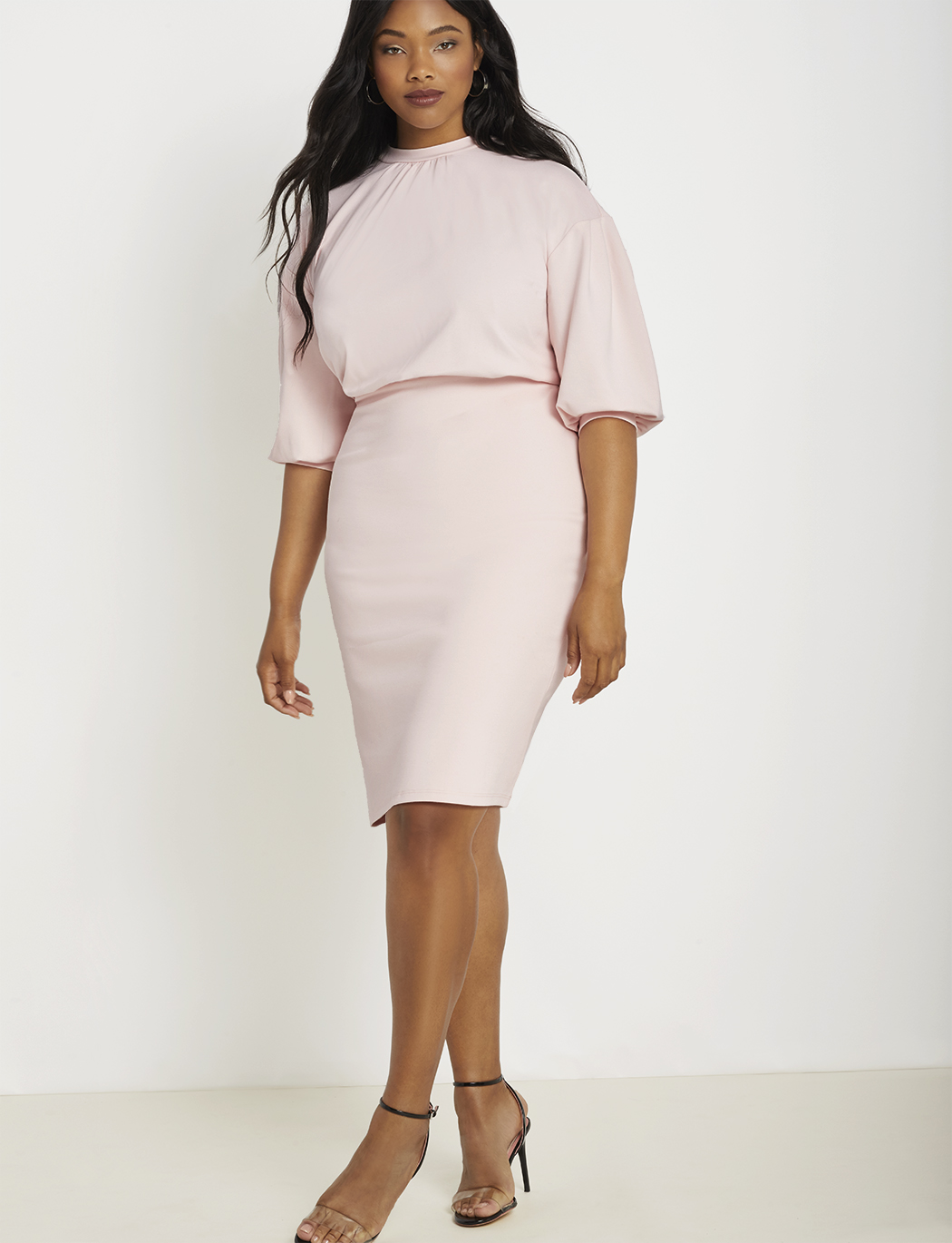 Puff Sleeve Tie Back Dress