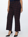 Windowpane Kick Flare Trouser Sky Captain + Cabernet Windowpane