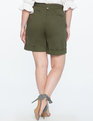 High Waisted Wide Leg Shorts FRENCH OLIVE