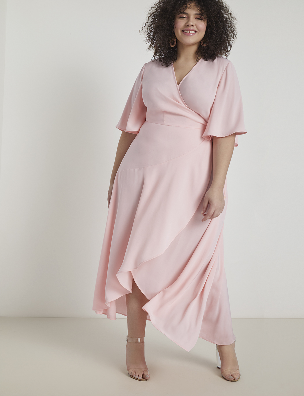 Flare Sleeve Maxi Wrap Dress | Women\'s Plus Size Dresses | ELOQUII