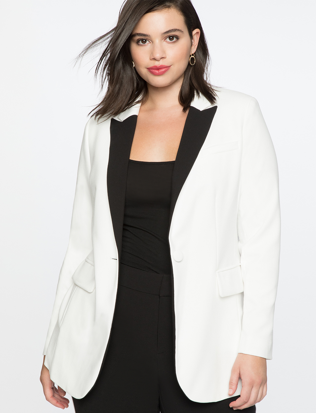 7b43989bbd6 Long Tuxedo Jacket | Women's Plus Size Coats + Jackets | ELOQUII