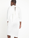 Keyhole Dress with Scarf True White