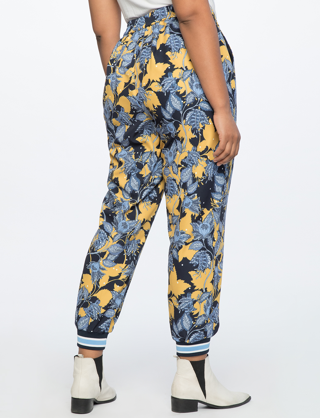Printed Jogger With Contrast Cuff
