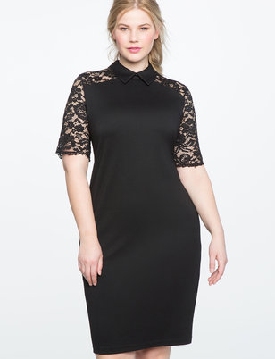 Lace Detail Sheath Dress